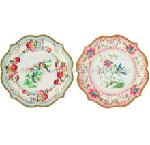 charming vintage style party plates food platters paper plates 30cm 2 diferent designs.Vintage Tea Party Paper Serving Plates