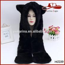 Fashionable Manufactuer Winter Animal Fur Hood Hats