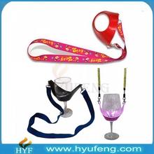 Customized bulk cheap wine glass holder lanyard