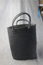 durable purple felt tote bag
