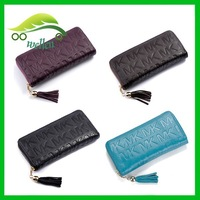 Quality fashion designer letter printed wallet zip-around leather purse