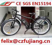 "new 26""x 4.0 fat tire electrc bike riding on the beach bike or on the snow aluminum alloy frame li-ion battery"