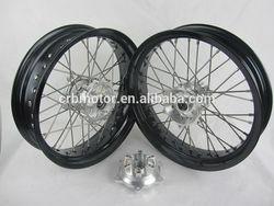 enduro and supermotard and motorcross wheels setfor KAWASAKI/CRF/YAMAHA/KTM/SU