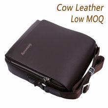 2014 new design brown/black man leather handbag/briefcase/business bag