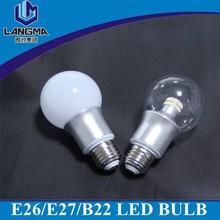 AC230V home leds e27 Edison Screw dimmable 4500k day White Light Lamp 6w