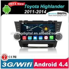 TYT-1012GDA Support 3G Modem in dash car dvd gps for Toyota Highlander