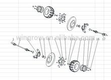 Gsmoon 800cc buggy spare parts / REAR WHEEL ASSY.