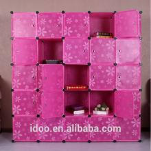 25 cubes big fashion plastic storage plastic pp cube for books, design bookcase cube DIY bookcase designs (FH-AL0085-25)
