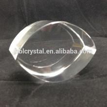 K9 quality eye shape blank laser crystal for 3d engrave