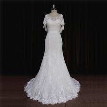 Queenly burgundy low cut back on sale beach dress wedding gown
