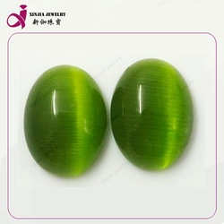 Cat eye gemstone,glass loose bead,green cat's eye for wholesale price