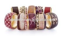 Alibaba express winter series beautiful modern clay and rhinestone bangle