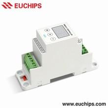 DIM101M-DIN: Euchips DMX512 DIN Rail Slave Controller