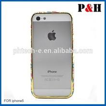 New fashion Bling shining crystal aluminum diamond metal hard bumper frame case for apple iPhone 5 5S 4S