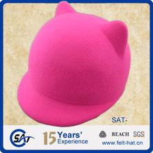 delicate cat ears wool felt children hat