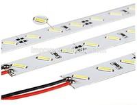 Hard Rigid Bar light DC12V 100cm 72 led SMD 7020 Aluminum Alloy Rigid Led Strip light For Cabinet / Jewelry Display