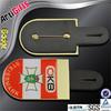 Made in china cheap metal art iron badge