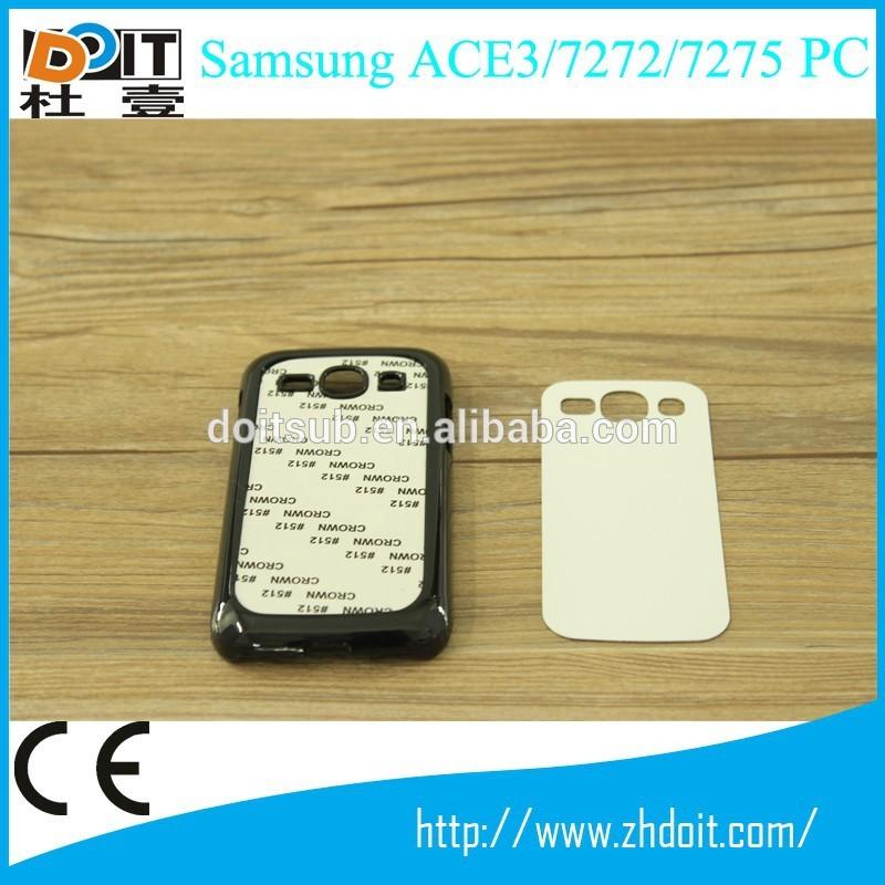 ورقة pc 2d التسامي التسامي aluminmum حالة الهاتف للحصول على الهاتف الخليوي الحال بالنسبة لسامسونج ace3/ 7272/ 7275 pc