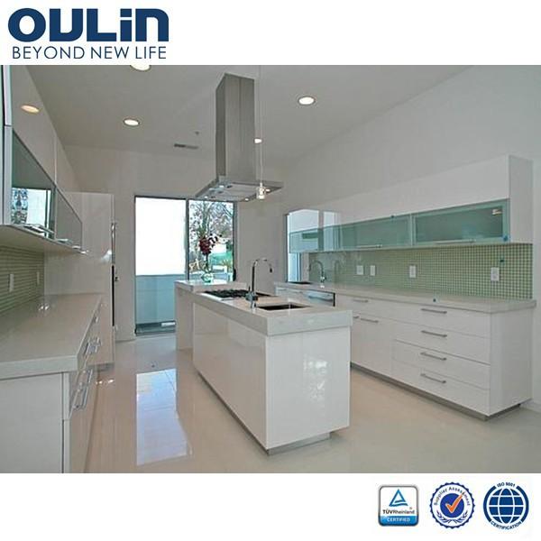 2014 modern modular aluminium kitchen cabinet door design for Modular kitchen designs aluminium