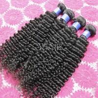 Indian deep curly hair 22inch 4pcs wavy 100% human hair extensions curl wavy