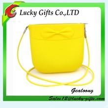 Custom Bowknot Candy Shoulder Tote Shopping Bag Silicone Handbags
