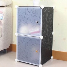 2 cubes plasticen storage cabinets can hold cothes, toys,books(FH-AL009-2)