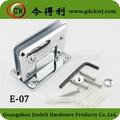 Cromo pulido ajustable estante de vidrio/estante de madera soportes del cuarto de baño