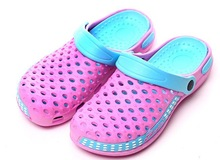 fashion double-deck holey kids crock clog shoes EVA clogs, garden clogs shoes, EVA foam
