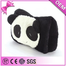 Wholesale custom soft plush hand muff, hand warmer muff with panda pattern