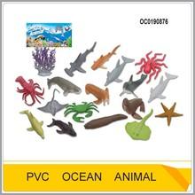 18pcs PVC sea animals sets toys for kids OC0190876