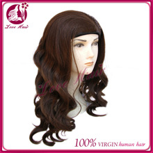 Top sale Chinese virgin 3/4 jewish band fall wigs