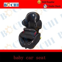 ISOFIX black baby car seat with anti-stamping front fence, with ECER44/04