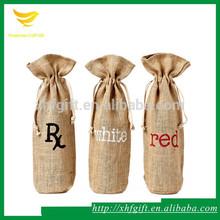 Factory directly sale popular cotton linen wine bag