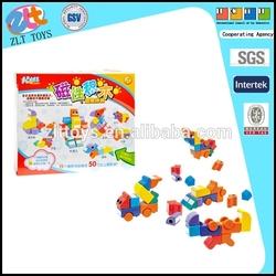 Children toys plastic magnetic building blocks, plastic assembled building block