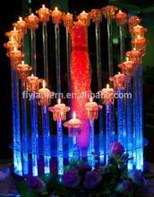 romantic wedding decorating 2015 LED candle canvas painting heart shape