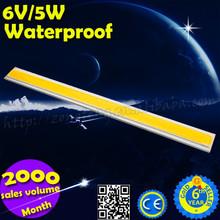 Hot Sale Long Rectangle Shape 100mm x 20mm 5W 6V 450-500LM 5W COB LED Chip