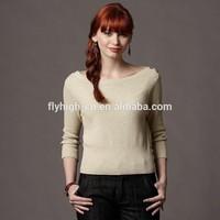 Women's newest fashion design knit heavy cashmere sweater