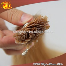 Factory direct sale Italian Keratin Flat Method Fusion tip Hair Extensions
