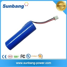 CE FCC MSDS approved rechargeable 14650 14500 3.6v 1200mah battery pack