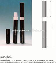 2.0ml glossy silver empty twist mechanism lip gloss pen