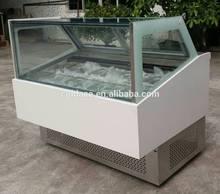 Pop style display case for gelato ice cream