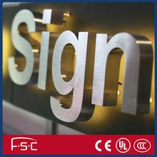 Stand off decorative metal alphabet letter