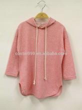 Child wear girl hoodies long sleeve cotton jacquard strip kids t-shirt