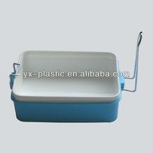 Plastic lunch box with aluminum lock