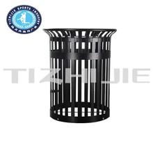 Anti-Scratch Open top Decorative trash disposal galvanized outdoor waste bin