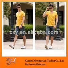 Fashionable most popular man yellow t shirt