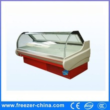 Made in China high quality open glass deli food freezer by great price with CE certification