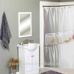 High Quanlity Bathroom Shower Curtain/ Mesh Shower Curtain With Pockets