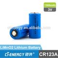 no batería de litio recargable cr123a