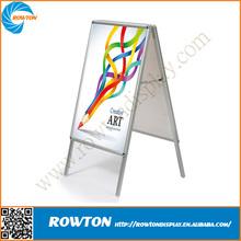 Outdoor metal advertsing board sidewalk sign frame aluminum stand